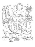 earth animals people stars black and white